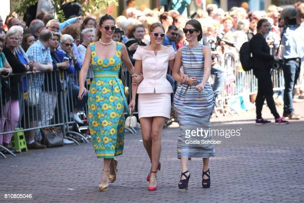 Guests arrive to the wedding of Prince Ernst August of Hanover jr Duke of BrunswickLueneburg and his fiancee Ekaterina Malysheva at Hanover Market...