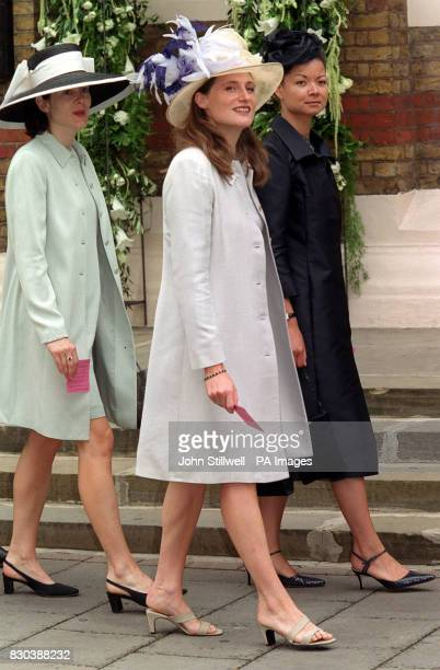 Guests arrives at the Greek Orthodox Cathedral of St Sophia in Bayswater west London for the wedding of Princess Alexia of Greece to Carlos Morales...