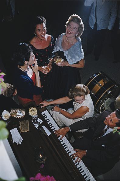Guests at a party in San Antonio Texas October 1976