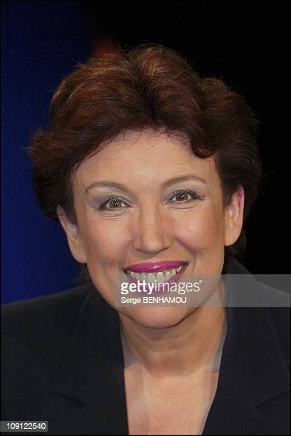 Guests At Campus Tv Show On June 23 2004 In Paris France Roselyne Bachelot