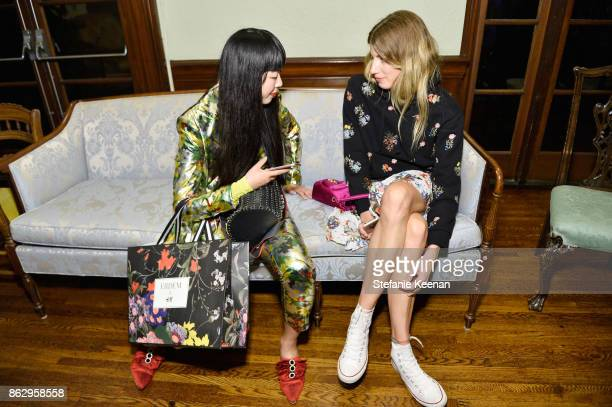 Guests at HM x ERDEM Runway Show Party at The Ebell Club of Los Angeles on October 18 2017 in Los Angeles California