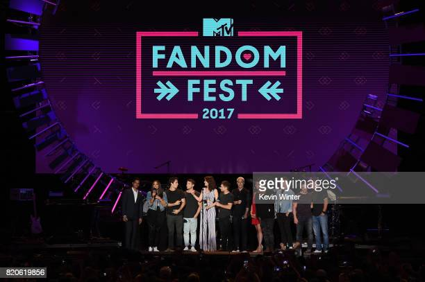 Guests at MTV Fandom during ComicCon2017 at Petco Park on July 21 2017 in San Diego California