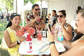 Guests at the Bai VIP Lounge on day one of The Panorama Music Festival at Randall's Island on July 22 2016 in New York City