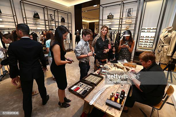 'DUBAI UNITED ARAB EMIRATES APRIL 12 Guests at the Burberry Art of the Trench Middle East event at Mall of the Emirates on April 12 2016 in Dubai...
