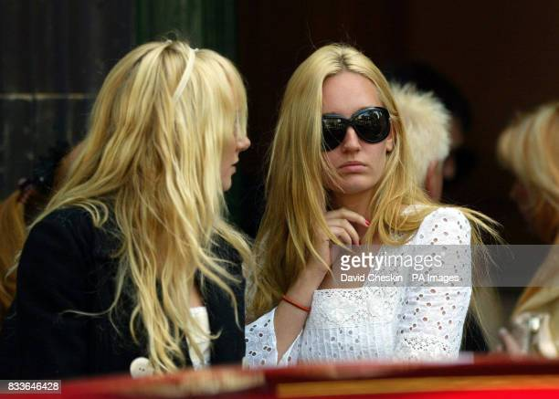 Guests at the Christening of rockstar Rod Stewart's son Alastair Wallace at South Leith Parish Church in Edinburgh