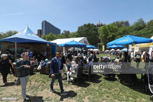 Guests at the Citi tents at Harlem EatUp's Third Annual Festival Weekend at Morningside Park on May 21 2017 in New York City