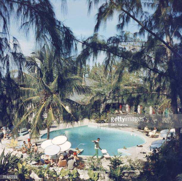 Guests at the French Leave Hotel owned by actor Craig Kelly at Eleuthera in The Bahamas 1960