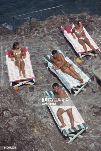 Guests at the Hotel Il Pellicano in Porto Ercole Tuscany August 1973