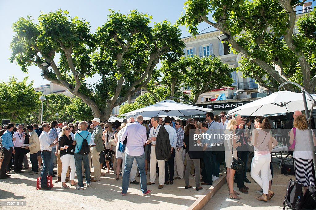 Guests at the Jorge Gallegos Memorial Boules Tournament hosted by Fintage House & Akin Gump on May 18, 2015 in Cannes, France.
