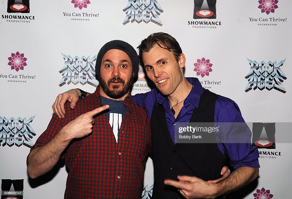 James Carpinello and Mitch Jarvis at the 'Rock Of Ages' Broadway Cast Reunion Concert at Highline Ballroom on January 25 2016 in New York City