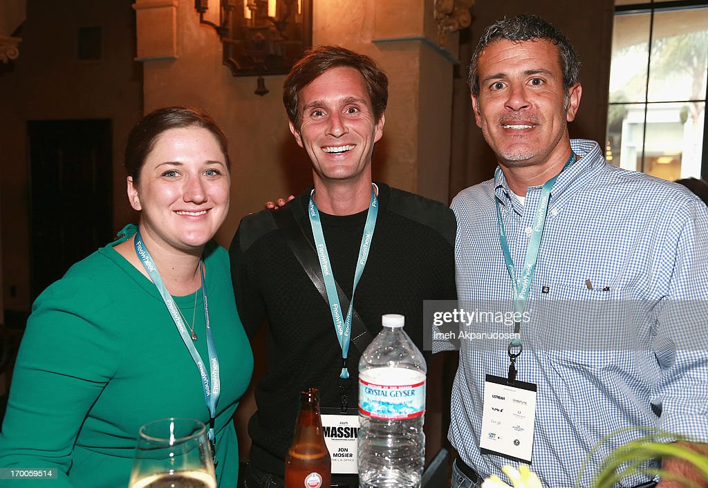 Guests attend a cocktail reception during Variety Presents