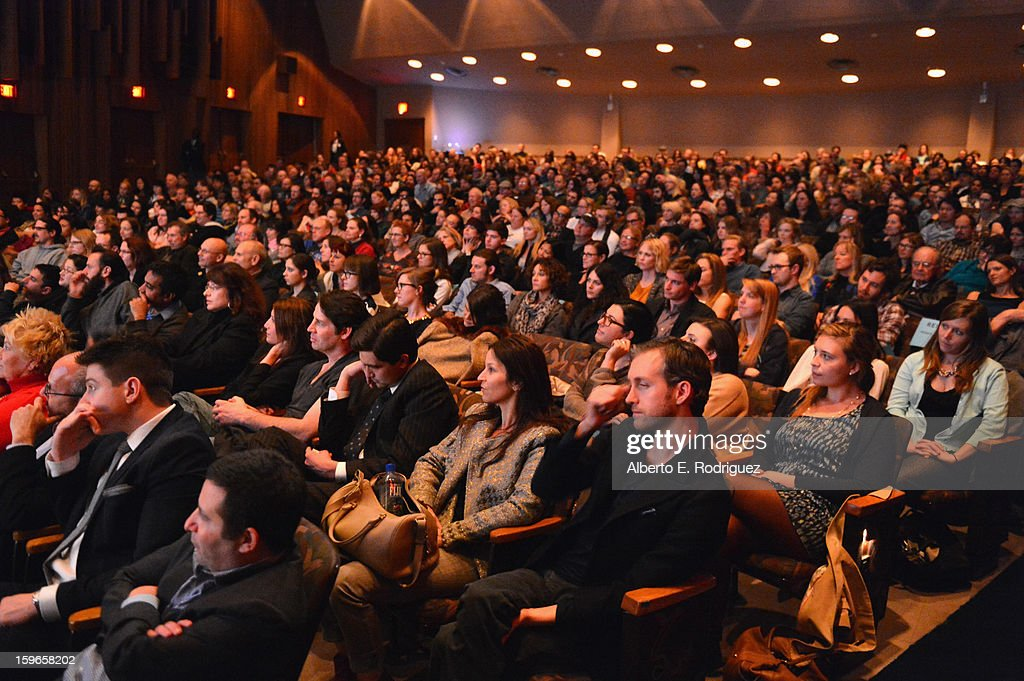 Guests attend a Film Independent live read at Bing Theatre At LACMA on January 17, 2013 in Los Angeles, California.