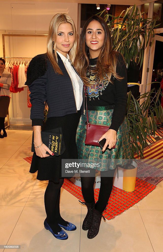 Guests attend as L.K. Bennett London and Caroline Issa launch their exclusive collection of shoes and handbags for Spring Summer 2013 at L.K. Bennett on February 18, 2013 in London, England.