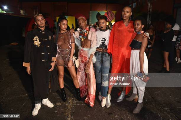 Guests attend BACARDI Swizz Beatz and The Dean Collection bring NO COMMISSION back to Miami to celebrate 'Island Might' at Soho Studios on December 8...