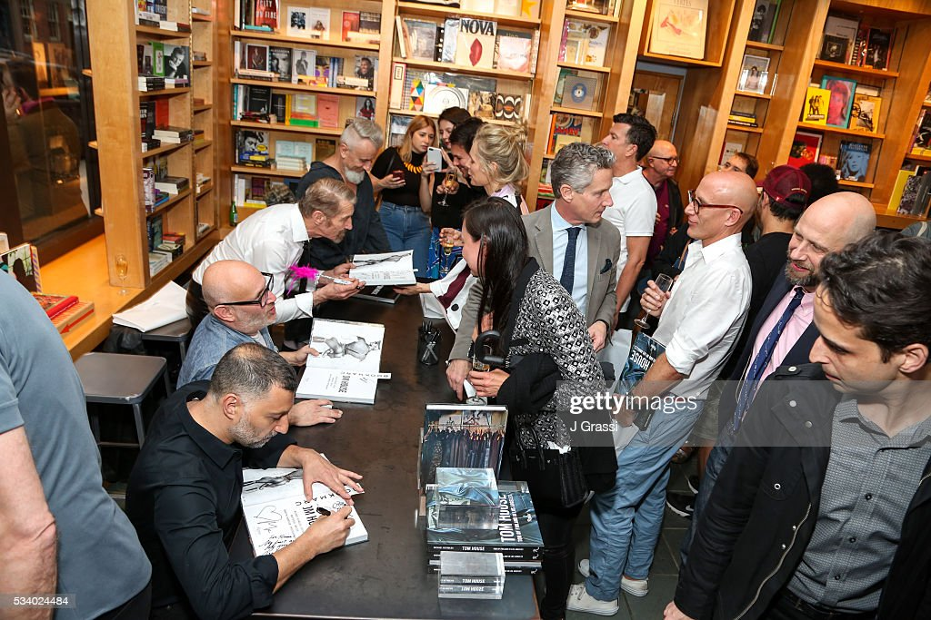 Guests attend Book Signing and Launch of 'Tom House: Tom of Finland in Los Angeles' at BookMarc on May 24, 2016 in New York City.