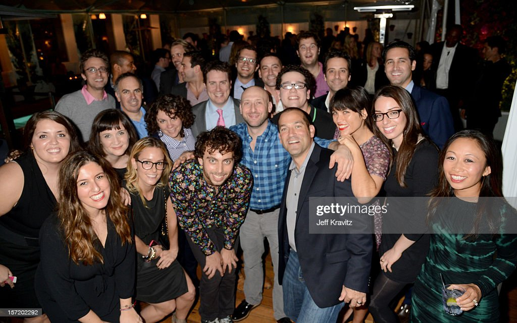 Guests attend BuzzFeed's Los Angeles Bureau Party at SkyBar at the Mondrian Los Angeles on November 29, 2012 in West Hollywood, California.