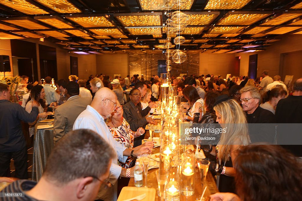 Guests attend Chicken Coupe Dinner at W South Beach Hotel & Residences on February 23, 2013 in Miami Beach, Florida.