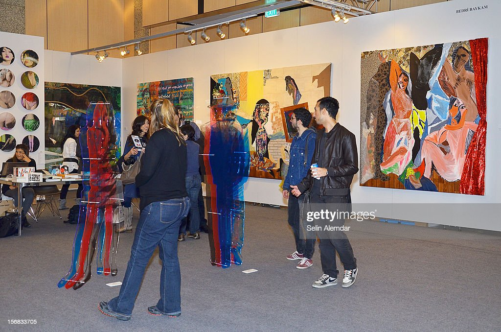 Guests attend Contemporary Istanbul on November 22, 2012 in Istanbul, Turkey.