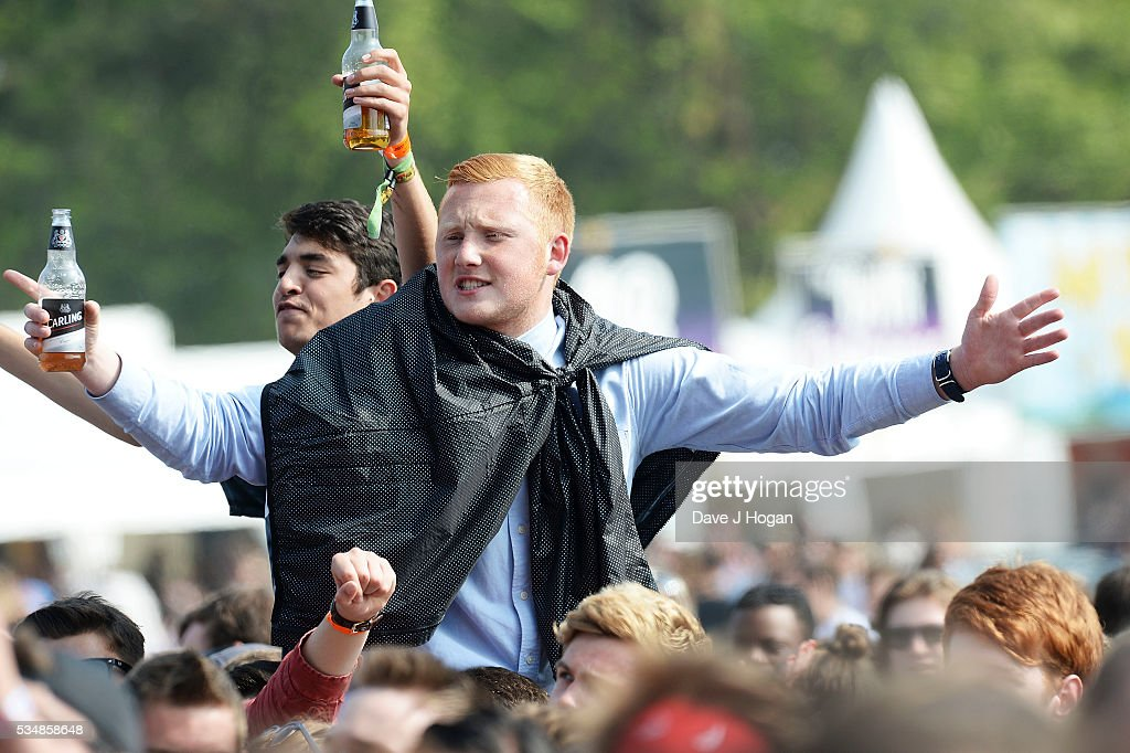 Guests attend day 1 of BBC Radio 1's Big Weekend at Powderham Castle on May 28, 2016 in Exeter, England.