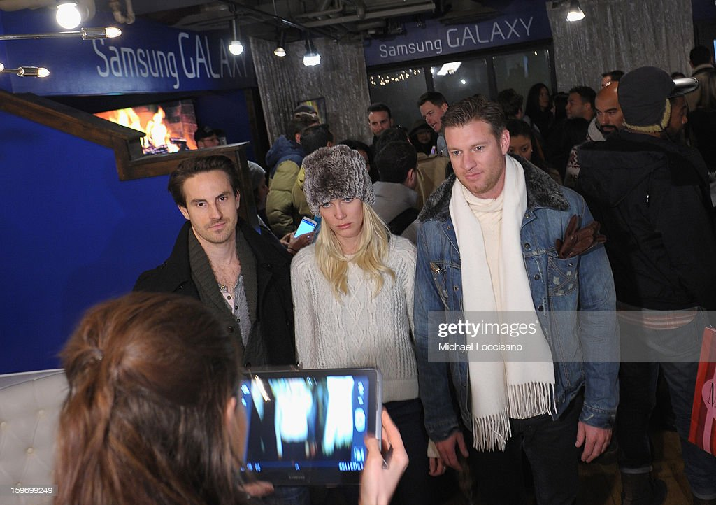 Guests attend Day 1 of Samsung Galaxy Lounge at Village At The Lift 2013 on January 18, 2013 in Park City, Utah.