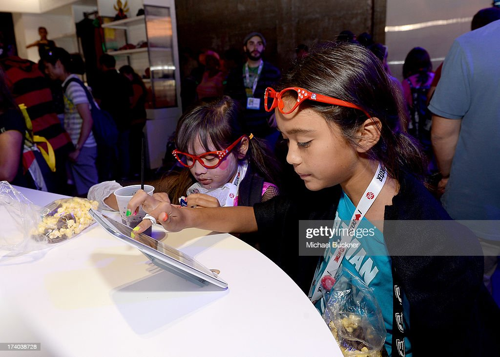 Guests attend Day 2 of The Samsung Galaxy Experience on July 19, 2013 in San Diego, California.