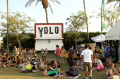 Guests attend day 3 of the 2014 Coachella Valley Music Arts Festival at the Empire Polo Club on April 20 2014 in Indio California