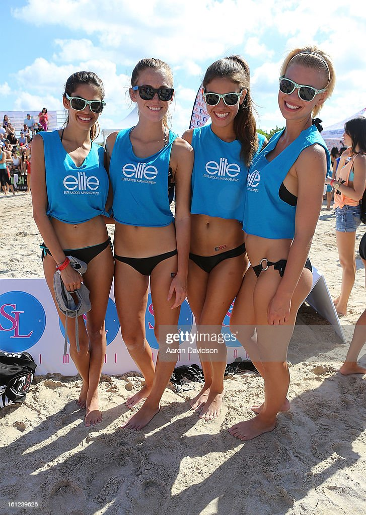 Guests attend Dirty Dutch Model Volleyball Tournament 2013 on February 9, 2013 in Miami Beach, Florida.