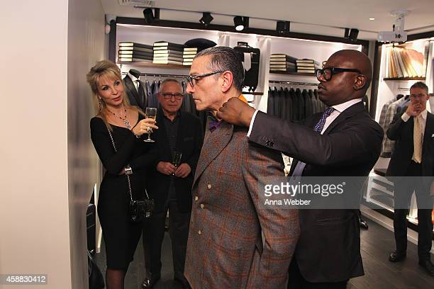 Guests attend DuJour magazine's premier opening event Tincati Milano Concept Store on November 11 2014 in New York City