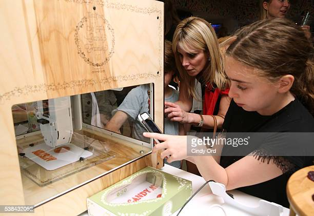 Guests attend Dylan's Candy BarNew York City Flagship 3rd Avenue launch of 3D printed candy with Katjes Magic Candy Factory on June 6 2016 in New...