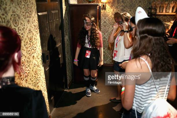 Guests attend Escape the Night 2 panel and premiere at VidCon at Anaheim Convention Center on June 22 2017 in Anaheim California
