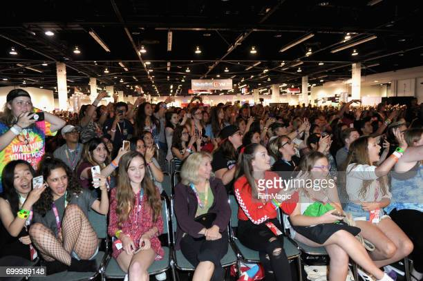 Guests attend Escape the Night 2 panel and premiere during VidCon at Anaheim Convention Center on June 22 2017 in Anaheim California