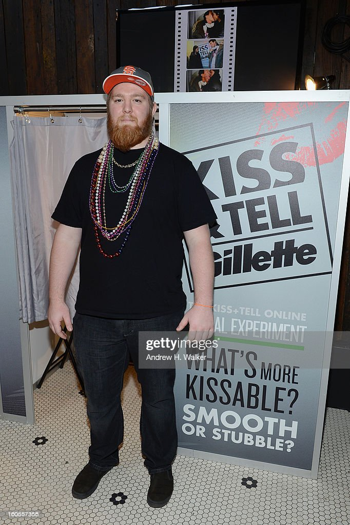 Guests attend Gillette's Kiss & Tell Live National Experiment and gets the sparks flying by asking women which kiss is best: a kiss with a stubble or smooth shaven skin on February 2, 2013 in New Orleans, Louisiana.
