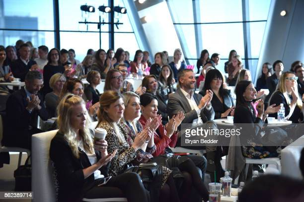 Guests attend Hearst Magazines' Unbound Access MagFront at Hearst Tower on October 17 2017 in New York City