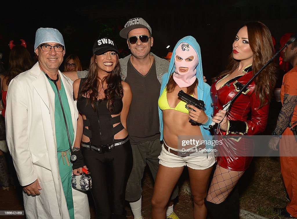 Guests attend Lisa Hochstein of 'Real Housewives of Miami' and Lenny Hochstein's Halloween Ball benefitting the Make-A-Wish Foundation on November 1, 2013 in Miami Beach, Florida.