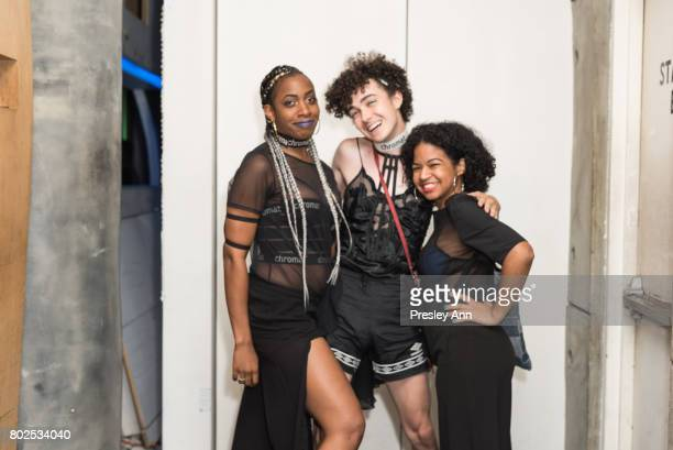Guests attend MAC Celebrates the Winner of the CFDA/Vogue Fashion Fund Capsule Collection CHROMAT at Maru Karaoke Lounge on June 27 2017 in New York...
