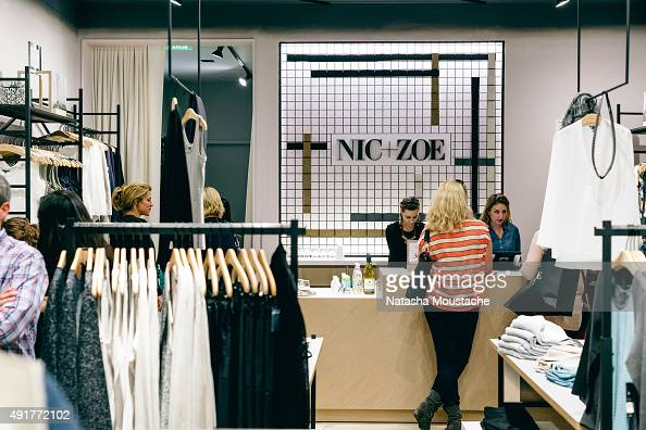 Guests attend NICZOE flagship store opening on October 7 2015 in Boston Massachusetts