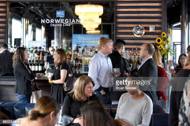 Guests attend Norwegian Escape heads to NYC event with Godfather Pitbull at PHD at the Dream Downtown on October 11 2017 in New York City