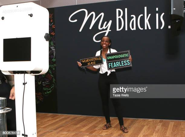 Guests attend Pantene's My Black is Beauty at day two of Fashion and Beauty during the 2017 BET Experience at Los Angeles Convention Center on June...