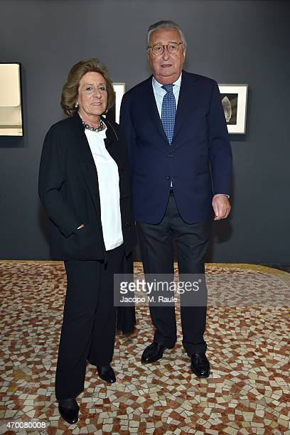 Guests attend Phillips private dinner and preview of selected works from 'The Great Wonderful' 100 Years Of Italian Art curated by Francesco Bonami...