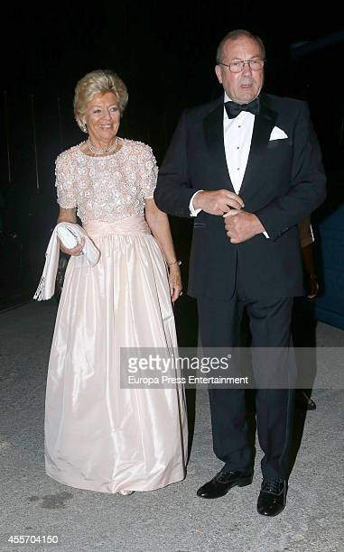 Guests attend private dinner to celebrate the Golden Wedding Anniversary of King Constantine II and Queen Anne Marie of Greece at Yacht Club on...