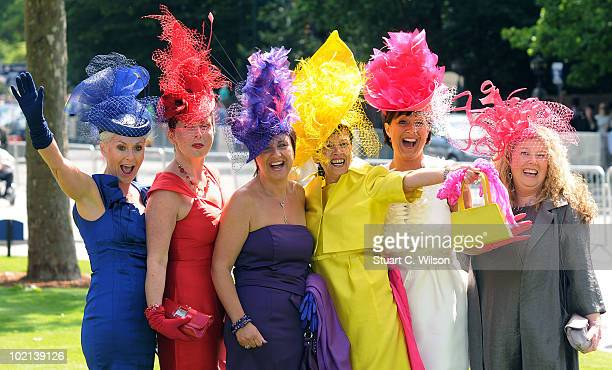 Guests attend Royal Ascot Day Two on June 16 2010 in Ascot England
