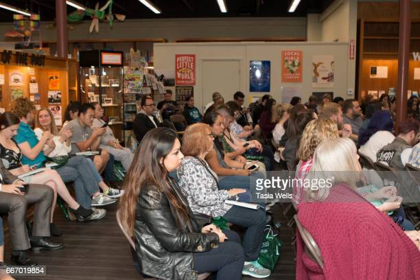 Guests attend Sarah Michelle Gellar book signing for 'Stirring up Fun with Food Over 115 Simple Delicious Ways to be Creative in the Kitchen' at...