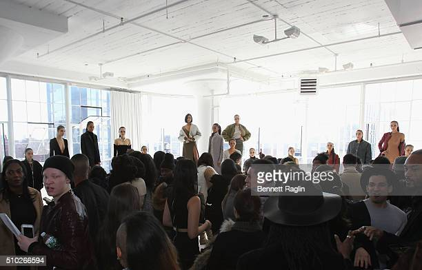 Guests attend SheaMoisture at Laquan Smith F/W 2016 NYFW at Jack Studios on February 14 2016 in New York City