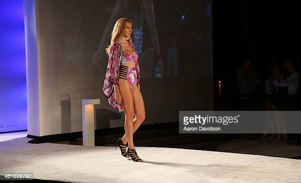 Guests attend SWIMMIAMI Kickoff Party At W South Beach Presented By Planet Fashion TV at W South Beach Hotel Residences on July 16 2015 in Miami...