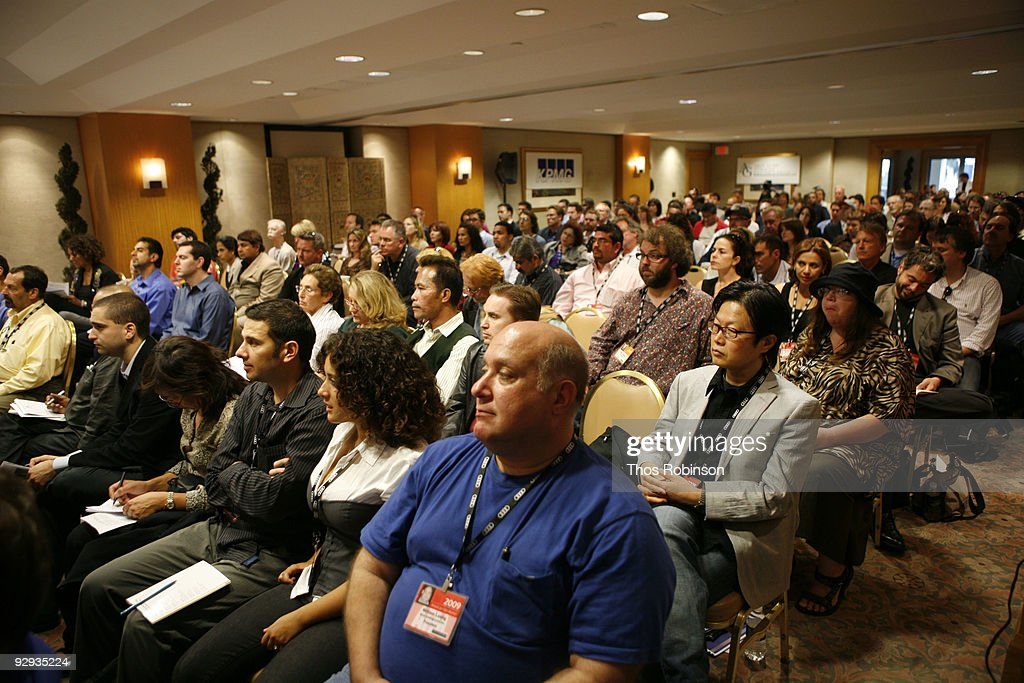 Guests attend the 2009 American Film Market - Day 6, Case Study: How to Package and Finance Your Independent Project Overseas at the Le Merigot Hotel on November 9, 2009 in Santa Monica, California.