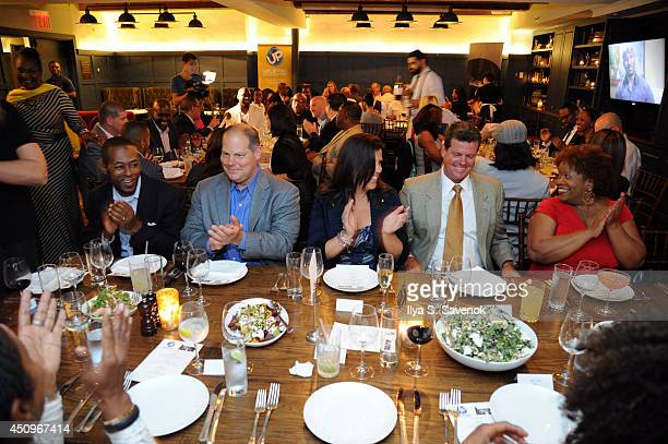 Guests attend the 2014 ABFF_ UP TV Aspire TV Dinner at Soho House on June 20 2014 in New York City