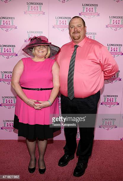 Guests attend the 2015 Kentucky Oaks at Churchill Downs on May 1 2015 in Louisville Kentucky