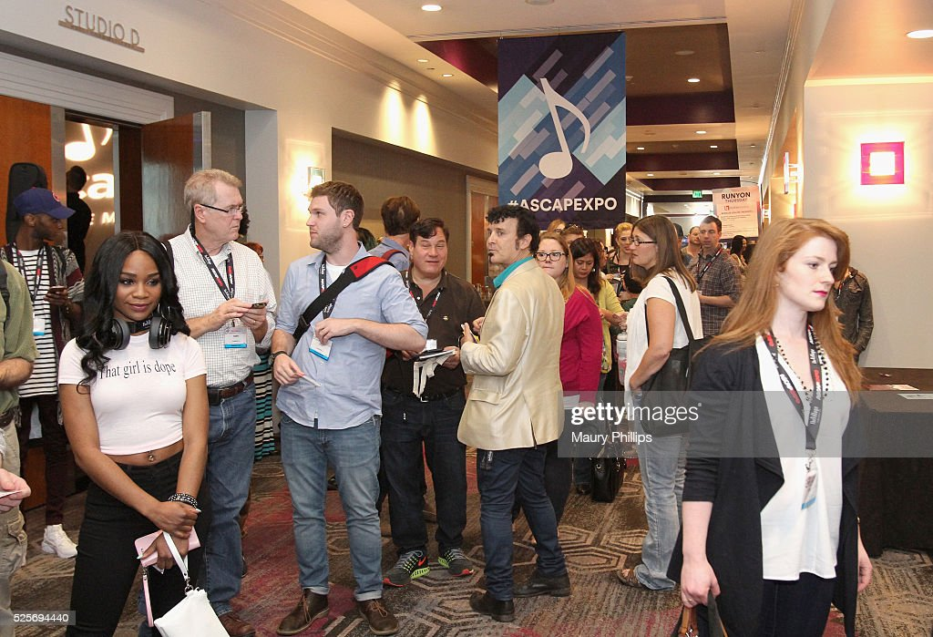 EXPO guests attend the 2016 ASCAP 'I Create Music' EXPO on April 28, 2016 in Los Angeles, California.