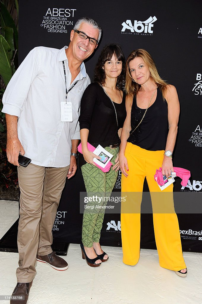 Guests attend the ABEST & ABIT Brazilian Swimwear Designers Cocktail Party during Mercedes-Benz Fashion Week Swim 2014 at The Raleigh on July 20, 2013 in Miami, Florida.