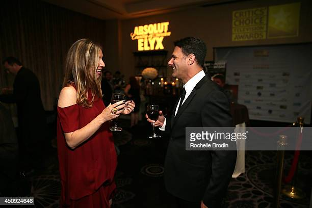 Guests attend the Absolut ELYX And The Glenlivet Lounge At The Critics Choice Television Awards at The Beverly Hilton Hotel on June 19 2014 in...